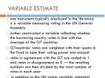 variable estimate