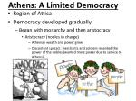 athens a limited democracy