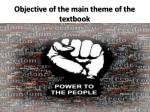 objective of the main theme of the textbook