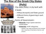 the rise of the greek city states polis
