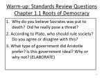 warm up standards review questions chapter 1 1 roots of democracy