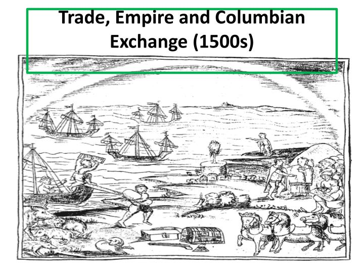 trade empire and columbian exchange 1500s n.