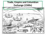 trade empire and columbian exchange 1500s