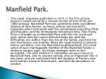 manfield park