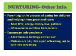 nurturing other info