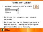 participant what
