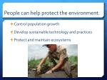 people can help protect the environment
