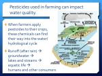 pesticides used in farming can impact water quality