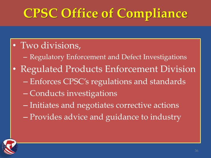 CPSC Office of Compliance