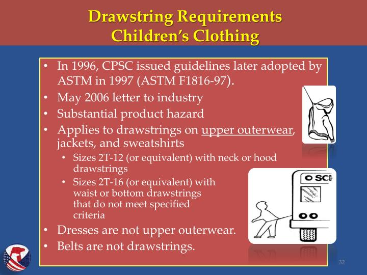 Drawstring Requirements