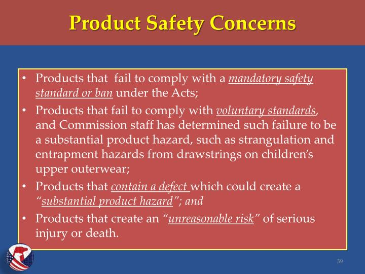 Product Safety Concerns