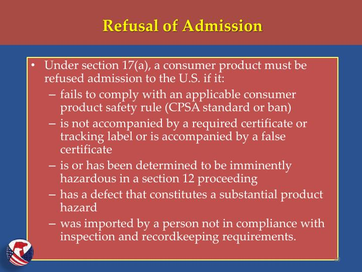 Refusal of Admission