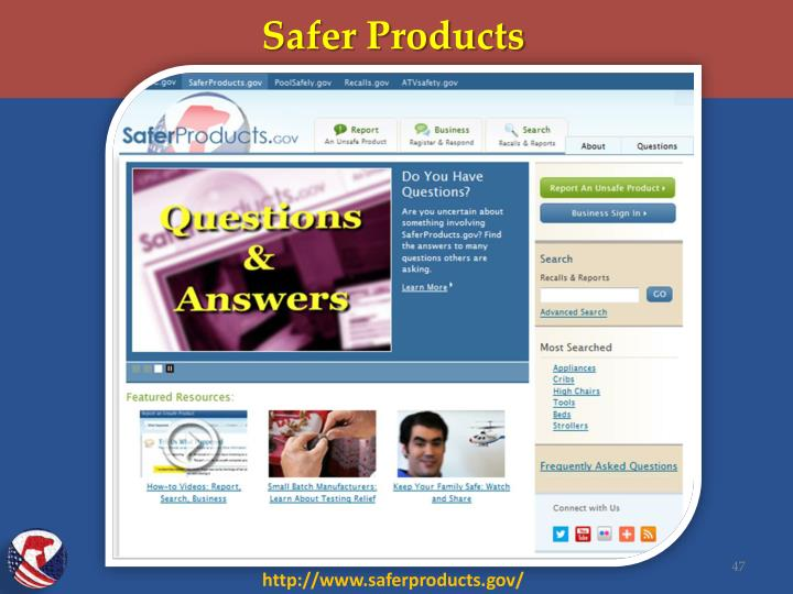 Safer Products