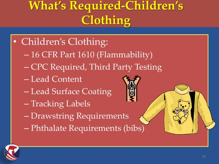 What's Required-Children's Clothing