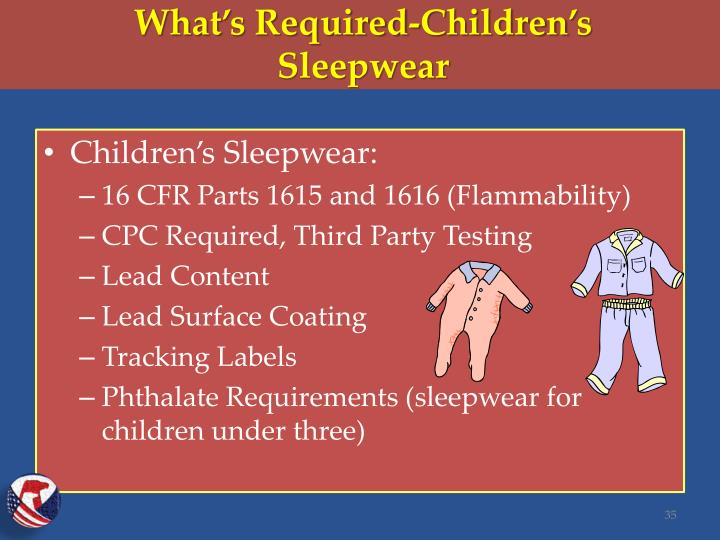 What's Required-Children's Sleepwear