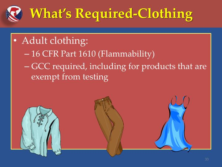 What's Required-Clothing