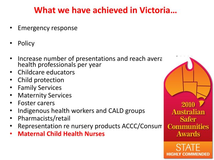 what we have achieved in victoria n.