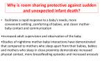 why is room sharing protective against sudden and unexpected infant death