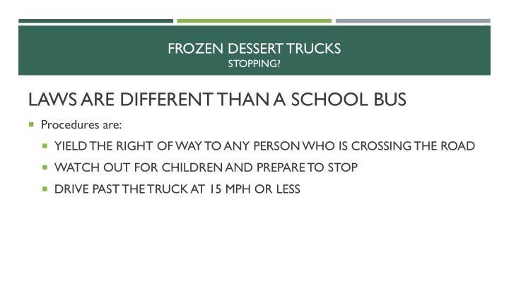 Frozen dessert trucks