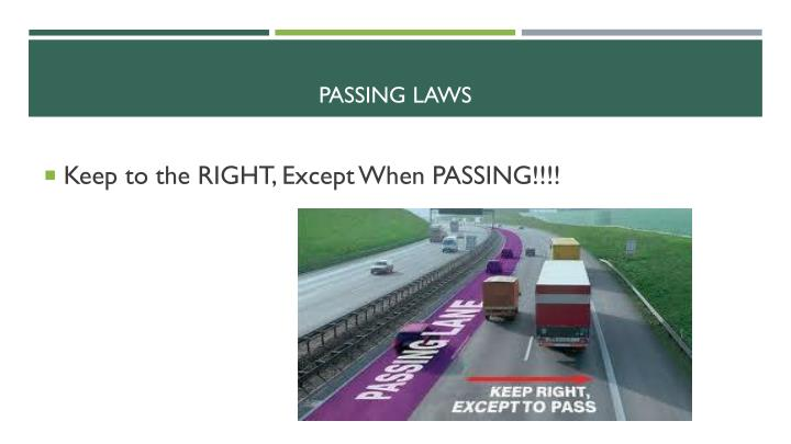 Passing laws