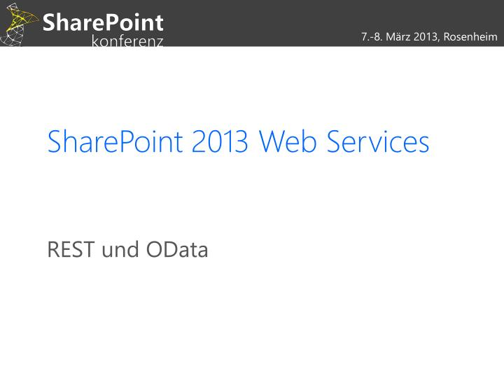 sharepoint 2013 web services n.