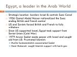 egypt a leader in the arab world
