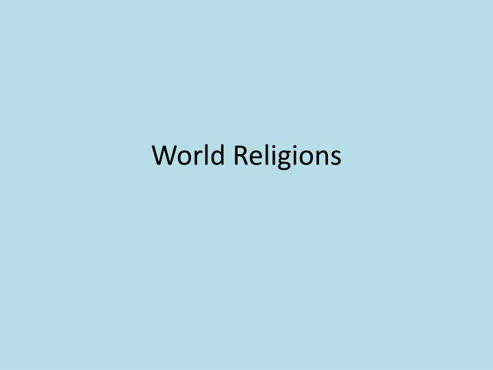 world religion 3201 unit one World religion 3201 -- unit one religious impulse - the universal urge to believe in something beyond ourselves credo - a philosophy or a set of beliefs.