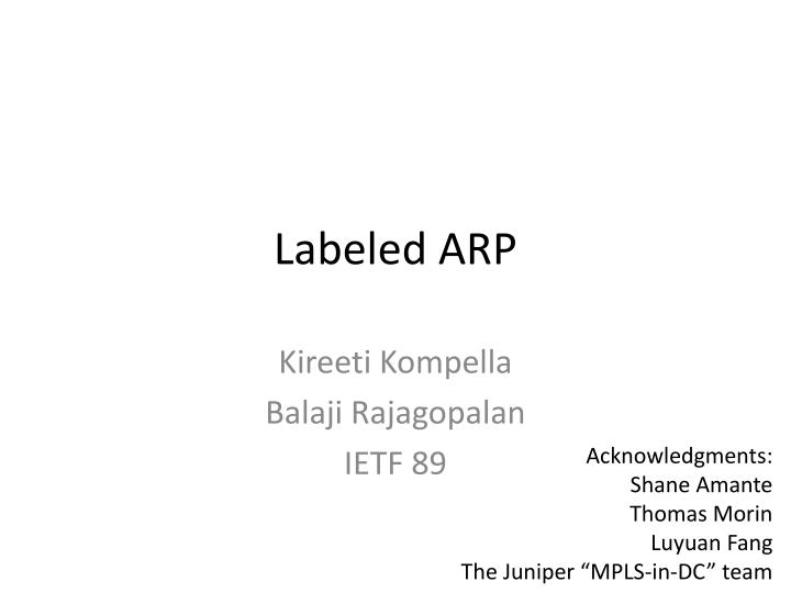 labeled arp n.