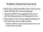 problem statement access