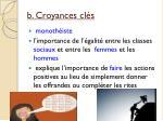 b croyances cl s