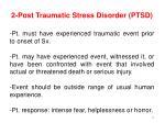 2 post traumatic stress disorder ptsd