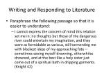 writing and responding to literature