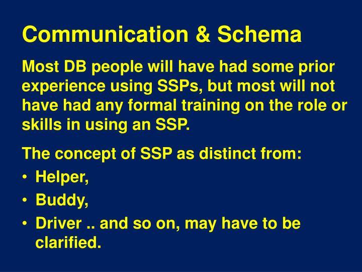 Communication & Schema