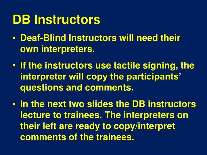 DB Instructors