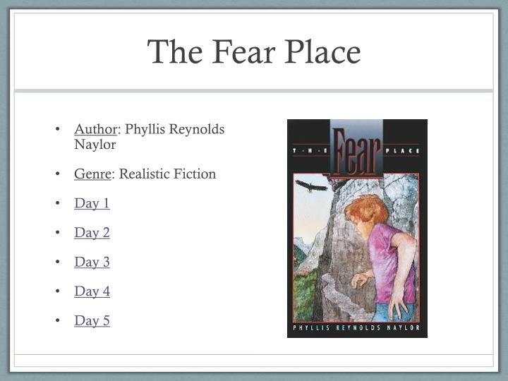 the fear place n.