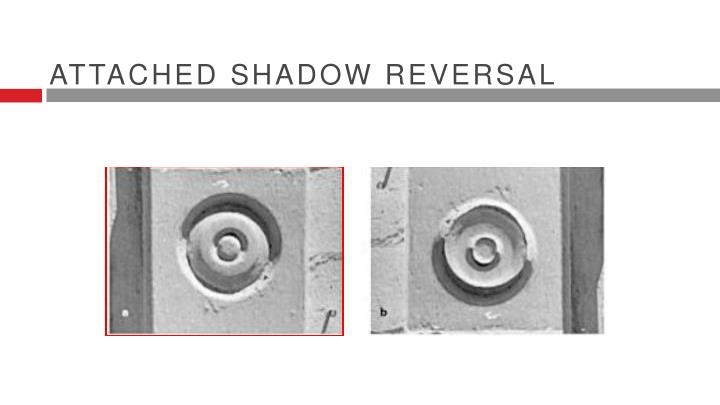 Attached shadow reversal