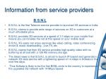 information from service providers