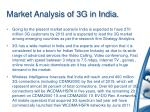 market analysis of 3g in india
