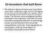 10 innovations that built rome