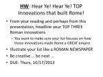 hw hear ye hear ye top innovations that built rome