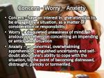 concern worry anxiety
