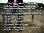 concern worry anxiety1