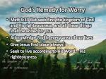 god s remedy for worry
