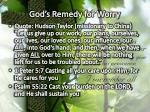 god s remedy for worry1