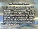 god s sufficient grace