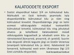 kalatoodete eksport