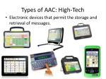 types of aac high tech