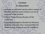 context in education