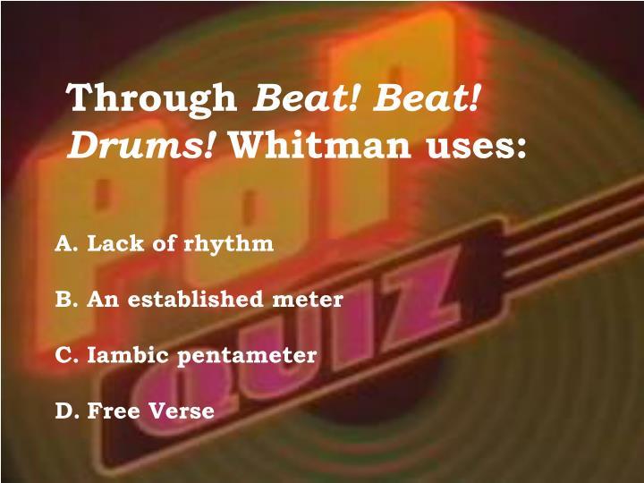 beat beat drums walt whitman analysis