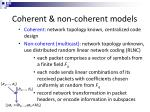 coherent non coherent models